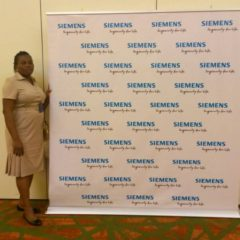 Banners produced for Siemens and installed at Eko Hotel for Siemens function June, 2018 1