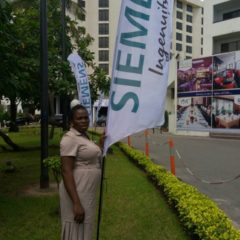 Feather Banners produced for Siemens and installed at Eko Hotel for Siemens function June, 2018 3